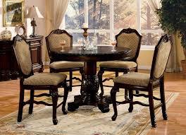 espresso dining room set 5 pc chateau de ville ii