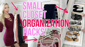 small closet organization hacks youtube