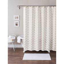 Shower Curtain At Walmart - better homes and gardens metallic chevron fabric 13 piece shower