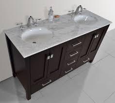 stufurhome 60 inch malibu espresso double sink bathroom vanity