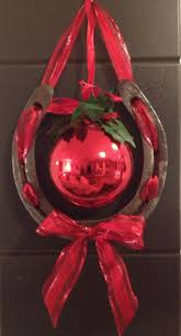 Cowboy Christmas Decorating Ideas Horsenista Christmas Diy Horseshoe Ornaments U2026 Pinteres U2026