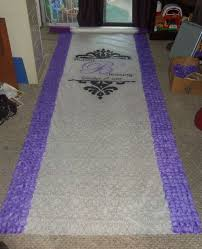Black Aisle Runner Almost Done With My Border Rose Petal Aisle Runner What Do You