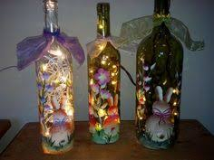 Easter Decorations With Wine Glasses by Easter Bunny Wine Bottle What I Made Pinterest Easter Bunny