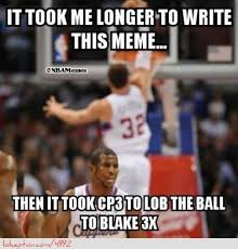 Blake Griffin Memes - chris paul alley ooping to blake griffin http