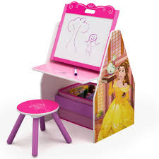 disney princess chair desk with storage delta children disney princess activity center easel art desk with