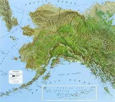 Alaska On A Map by Alaska State Raised Relief Map