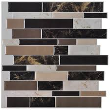 Marble Tile Kitchen Backsplash Amazon Com Art3d 6 Pack Peel And Stick Vinyl Sticker Kitchen