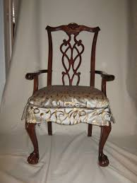 interior dark brown fabric sure fit dining room chair slip covers