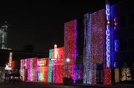 Christmas Lights On Automobile Alley In Oklahoma City Christmas