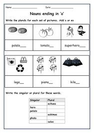 spellings writing singular nouns into plural nouns and vice versa