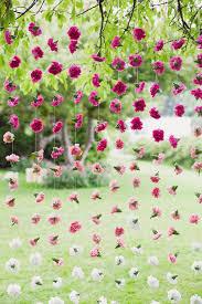Wedding Backdrop Lattice Flowers On Fish Line From Last Year Use Over Tulle Or On Lattice