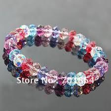 beaded bracelet crystal images Pcs lot free shipping fashion jewelry 8mm colorful crystal beaded jpg