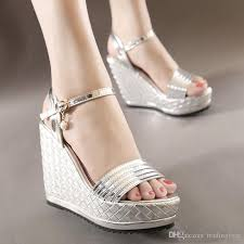 silver wedding shoes wedges woven knitted silver wedding shoes bridal platform wedges