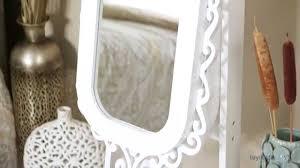White Jewelry Armoire Mirror Belham Living Scroll Cheval Mirror Locking Jewelry Armoire High