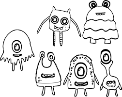 monster alien coloring wecoloringpage