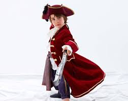 Captain Hook Halloween Costume Pirate Coat Etsy