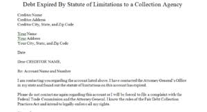 debt statute of limitatiions dispute letters that work