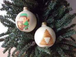 geek art gallery crafts hand painted xmas ornaments