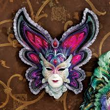 ceramic mardi gras masks butterfly maiden of mardi gras wall mask quarter