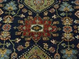 Black Persian Rug 9 U0027 X 12 U0027 Black Karajeh Hand Knotted 100 Percent Wool Oriental Rug