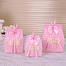 baby shower gift bags 50pcs pink candy boxes party favors wedding box party favour