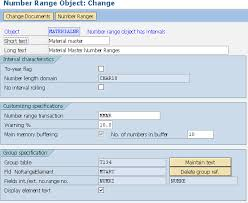 Sap Material Master Tables by Number Range For Material Type