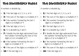 improving number sense with the divisibility rules divisibility
