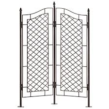 h potter two panel trellis wrought iron ivy garden screen h potter