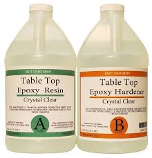 pro marine supplies table top epoxy table top epoxy resin kit 1 gallon 1 2 gal resin and 1 2 gal