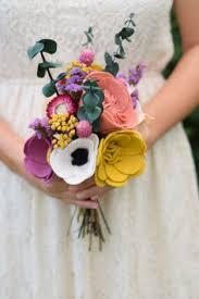 Wedding Flowers Keepsake Felt Flower Bouquet Dried Flower Bouquet Alternative Flowers