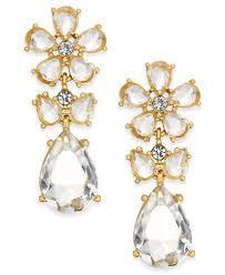 earrings new york kate spade new york 14k gold plated flower drop earrings jewelry