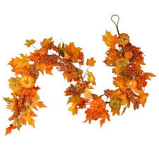 fall garland national tree company harvest accessories 70 in garland with