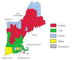 Map Of United States Regions by Primary Ethnic Groups Of The New England Region 1481x1234 Mapart