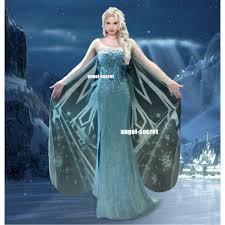Elsa Costume C737 Movies Frozen Snow Queen Elsa Cosplay Costume Deluxe Corset