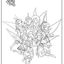 tinker bell u0026 friends coloring pages hellokids