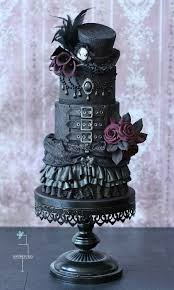 gothic wedding cake with top hat unhinged desserts u0026 candies