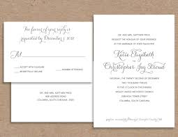 Wedding Invitations With Free Response Cards Imposing Formal Wedding Invitation Theruntime Com