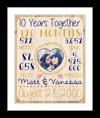 10 year anniversary present wedding anniversary gifts for him paper canvas 10 year