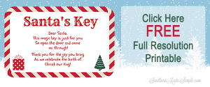 santa key when santa has no chimney free printable southern made simple