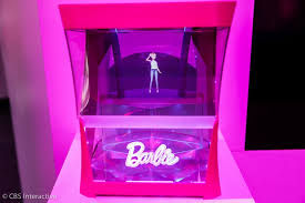 barbie hologram lives box reminds brush