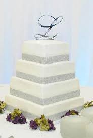 square wedding cakes two tier bling wedding cakes wedding cake ideas 4 tier square