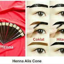 membuat alis dengan henna henna alis eyebrow hena tato pewarna alis tatto pembentuk alis