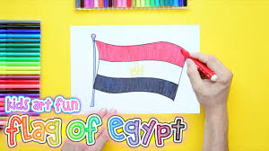 Image Of Flag Of Egypt How To Draw And Color The National Flag Of Egypt Youtube