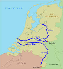 Germany On Map by Map Of The Netherlands Showing The Rivers Rhine And Meuse And