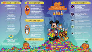 2017 halloween horror nights map 2017 mickey u0027s not so scary halloween party at walt disney world