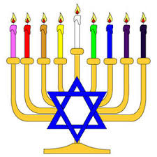 chanukkah candles ranbow hanukka menorah vector freevectors net