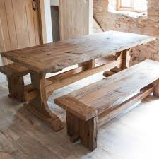 designer reclaimed wood dining table