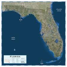 satellite map of florida florida satellite wall map maps