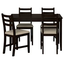 Black Dining Table Lerhamn Table And 4 Chairs Ikea