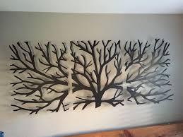 home decor wall hangings metal wall art decor 3d sculpture 3 piece tree brunch modern